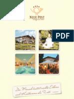 Urlaubsprospekt Wellnesshotel Neue Post in Bodenmais (Bayerischer Wald)