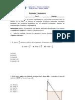 Evaluación Trigonometría 3° B
