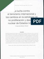 La Lucha Contra El Terrorismo Internacional y Los Cambios en La Estrategia de No Profileracion y Desarme Nuclear de Los E.U