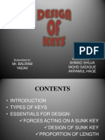 DESIGN OF KEYS