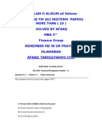 Mgt 201 10+ Solved Mid Term Papers by Afaaq