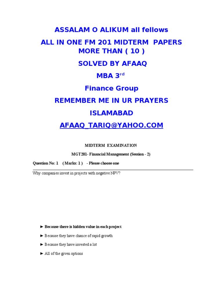 mgt201 final term paper 2015