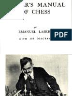 Emanuel Lasker Laskers-Manual of chess