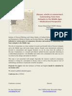 Glossae, scholia et commentarii. Invitation for a Conference