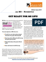 Asian MS Newsletter Winter Issue, 2011
