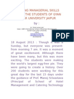 Amazing Managerial Skills of Students of Suresh Gyan Vihar University Jaipur