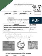 Evaluación  historia y geografía 1 básico