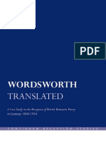 (Continuum Reception Studies )John Williams-Wordsworth Translated a Case Study in the Reception of British Romantic Poetry in Germany 1804-1914-Continuum(2009)