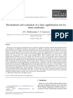 Development and Evaluation of a Latex Agglutination Test For