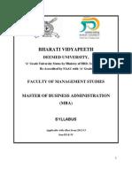 Syllabus MBA (General) Sem III & IV
