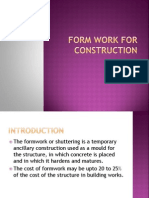 Formwork for Construction