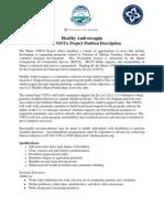 Healthy Androscoggin VISTA Position Description August 2013
