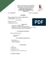 Matriz de Inglês, nível 6, Módulo 6, Julho 2009