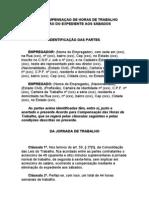 ACORDO DE COMPENSAÇAO DE HORAS DE TRABALHO PARA ELIMINAÇÃO DO EXPEDIENTE AOS SÁBADOS