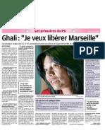 Interviews des candidats aux primaires à Marseille