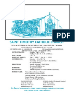 St. Timothy L.A. June 21 Bulletin.