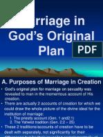 Marriage in God's Original Plan