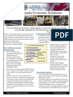 Us Canada Economic Relations Factsheet