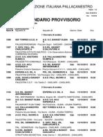 C Reg. M. Calendario provvisorio