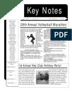 Key Club Newsletter
