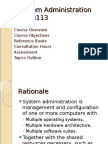 1 - System Administration Course Outline