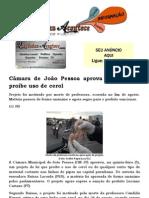 Câmara de João Pessoa aprova projeto que proíbe uso de cerol