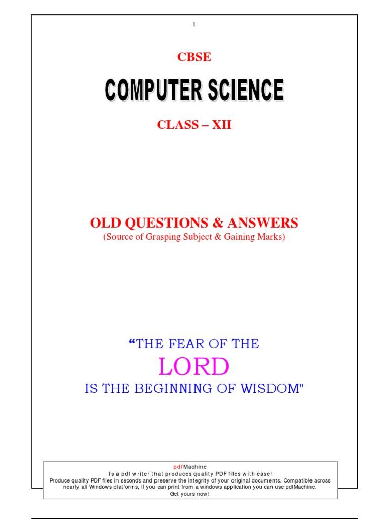 xii computer all parameter computer programming c