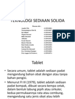 Teknologi Sediaan Solida Ppt