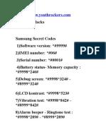 Samsung Codes