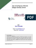 Instalasi dan Konfigurasi Mikrotik sebagai Gateway