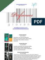 Giovanna Perfumes Catalog