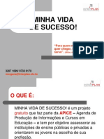 APRESENTAÇÃO PROGRAMA MINHA VIDA DE SUCESSO -II