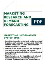 Marketing Research and Demand Forecasting