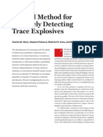 Detecting Trace Explosives MIT
