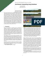 Efficient Gradient-Domain Compositing Using Quadtrees t