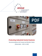ENISA - Protecting Industrial Control Systems - Recommendations for Europe and Member States