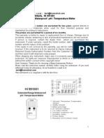 HI 991001 pH Metru Manual