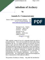 Ananda Coomaraswamy - The Symbolism of Archery