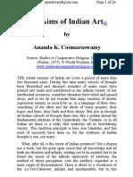 Ananda Coomaraswamy - The Aims of Indian Art