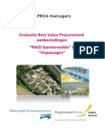 Evaluatie Best Value Procurement aanbestedingen RWZI Garmerwolde en Vispassages bij Waterschap Noorderzijlvest