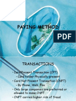 Paying Method