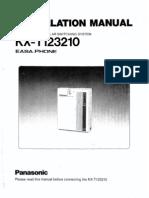 Panasonic KX-T123210 Installation & Programming