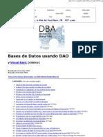 Bases de Datos Con Visual Basic Usando DAO