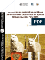 Appa 2011 - Estima de Parametros Geneticos en Alpacas