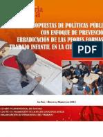 Propuesta de políticas públicas con enfoque de prevención y erradicación de las peores formas de trabajo infantil en la ciudad de El Alto