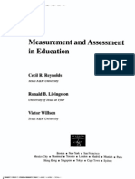 Masurement and Assessment in Education