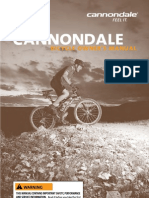 Cannon Dale Bicycle Owners Manual