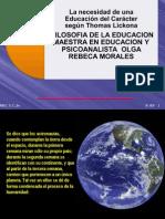 Necesidad de Educacion Caracter Olga Rebeca