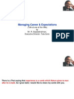 Managing Career & Expectations (Talk at One of The