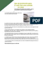 Consejos de protocolo para servir el café tras una comida en casa
